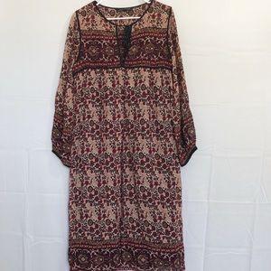 Zara Woman Floral Midi Dress Size XS